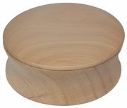Kingsley shave soap bowl with lid-natural wood