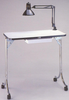 SpaceSaver 401BM Portable Nail Table-Black Marble Top