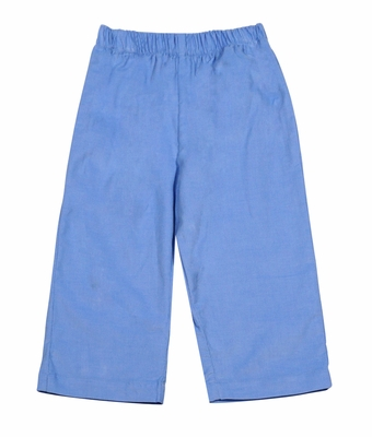 Anavini Baby / Toddler Boys Elastic Waist Pull On Pants - Light Blue Corduroy