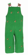 Anavini Baby / Toddler Boys Green Corduroy Longall - Embroidered Reindeer
