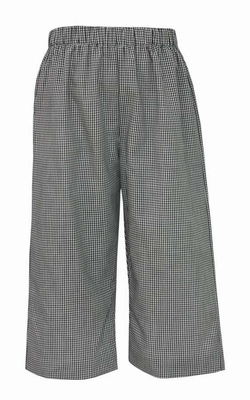 Anavini Baby / Toddler Boys Pull On Pants - Black / White Check