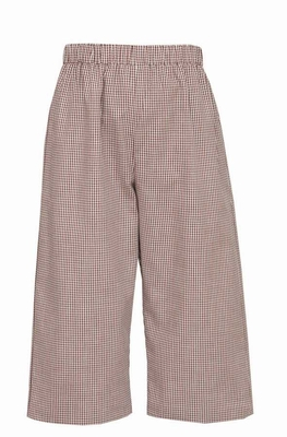 Anavini Baby / Toddler Boys Pull On Pants - Brown Check