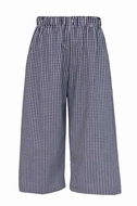 Anavini Baby / Toddler Boys Pull On Pants - Navy Blue Gingham