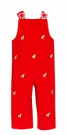 Anavini Baby / Toddler Boys Red Corduroy / Embroidery Reindeer Longall