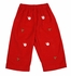 Anavini Baby / Toddler Boys Red Corduroy Pull On Pants with Embroidery Santa Faces