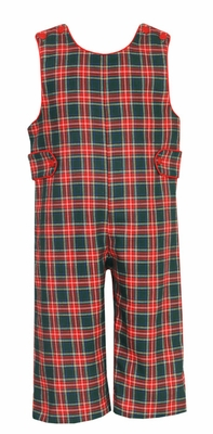 Anavini Infant / Toddler Boys Red / Green Plaid Longall