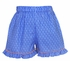 Anavini Infant / Toddler Girls Blue on Blue Dots Ruffle Shorts with Smocked Nemo Clown Fish Top