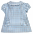 Anavini Infant / Toddler Girls Blue Plaid Dress with Ruffle Collar and Pockets