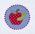 Anavini Toddler Girls Applique Apple / Worm Shirt with Apple Embroidery Blue Oxford Ruffle Pants