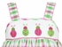 Anavini Toddler Girls Green / Pink Plaid Smocked Ladybugs Sun Dress