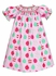 Anavini Velani Baby / Toddler Girls Pink Christmas Ornaments Print Smocked Bishop Dress