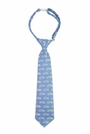 Andy & Evan Boys Neck Tie - Car Print - Blue
