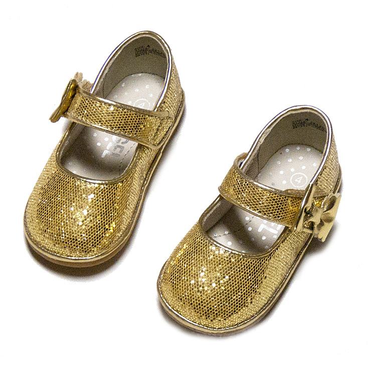 quality design 0a485 17c0e L Amour Angel Baby   Toddler Girls Glitter Mary Jane Shoes with Bow - Gold