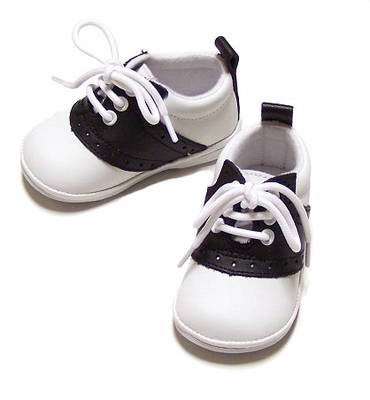 L'Amour Angel Saddle Oxfords Shoes for Baby / Toddler Girls & Boys - Black & White