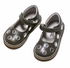 L'Amour Angel Girls Polka Dot Mary Jane Shoes - Silver on Gray