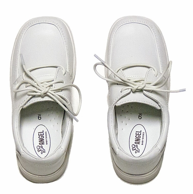 L'Amour Angel Shoes - Boys Dressy White Sole Lace Up Oxfords