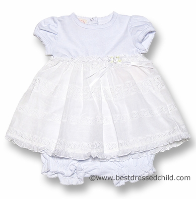 Baby Biscotti Infant Girls Beautiful White English Eyelet