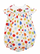 Baby Girls Colorful Dots Smocked Nemo Under the Sea Bubble - Exclusively at The Best Dressed Child