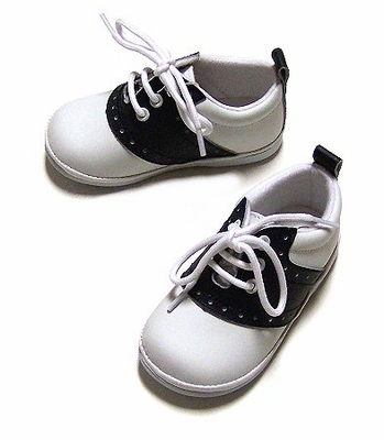 Angel Shoes Children's Navy Blue & White Leather Saddle Shoes