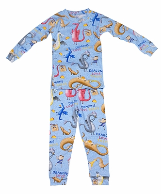 Books to Bed Boys Blue Dragons Love Tacos Pajamas