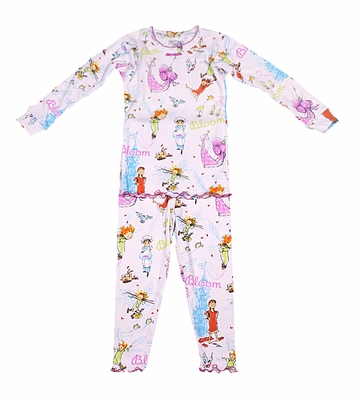 Books to Bed Girls Pink Bloom Pajamas
