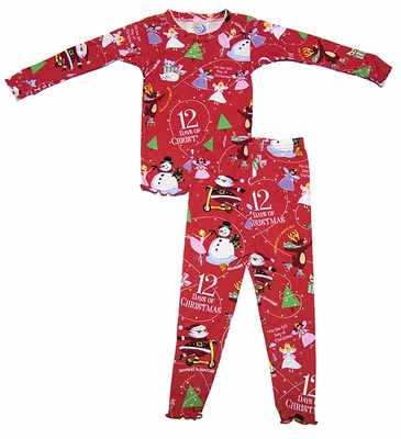 dafe2c553a77 12 Days of Christmas Books to Bed Girls PJ Book Set - Red