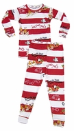 Books to Bed Red / White Stripes Twas the Night Before Christmas Pajamas - Optional Storybook - Boys