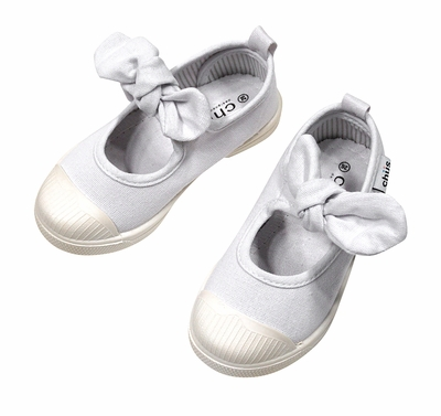Chus Shoes - Girls Athena Velcro Mary Jane with Bow - White