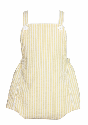 Claire & Charie Infant Boys Yellow Striped Bubble