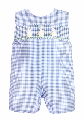 4ef3eac47 Claire   Charlie Baby   Toddler Boys French Blue Gingham Smocked ...
