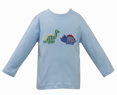 Claire & Charlie Baby / Toddler Boys Light Blue Shirt - Dinosaurs