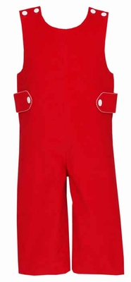 Claire & Charlie Baby / Toddler Boys Red Corduroy Longall