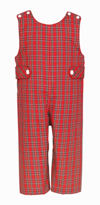 Claire & Charlie Baby / Toddler Boys Red Holiday Plaid Longall