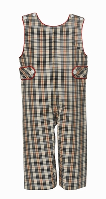 Claire & Charlie Baby / Toddler Boys Tan Khaki Plaid Longall