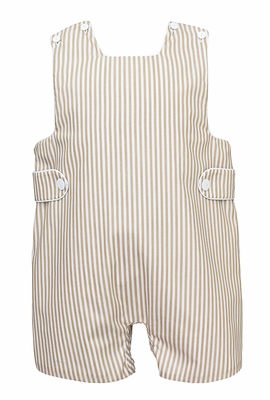 Claire & Charlie Baby / Toddler Boys Tan Khaki Striped Jon Jon