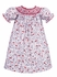 Claire & Charlie Baby / Toddler Girls Red Christmas Cardinal Bird Print Smocked Dress