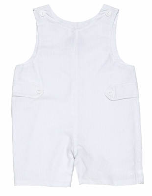 Claire & Charlie Infant / Toddler Boys White Seersucker Jon Jon