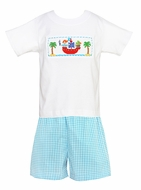 Claire Amp Charlie Baby Toddler Boys Turquoise Gingham