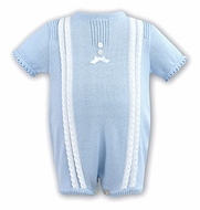Dani by Sarah Louise Infant Girls Sweater Knit Romper - Blue