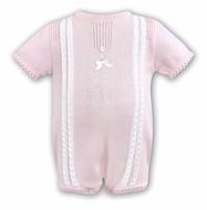 Dani by Sarah Louise Infant Girls Sweater Knit Romper - Pink