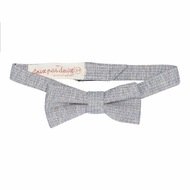 Deux Par Deux Boys Aristo Kids Bow Tie - Gray