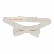Deux Par Deux Boys Aristo Kids Bow Tie - Cement Ivory