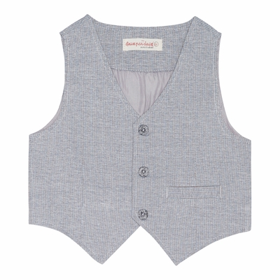 Deux Par Deux Boys Aristo Kids Vest - Gray