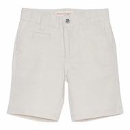 Deux Par Deux Boys Aristo Kids Bermuda Shorts - Cement Ivory
