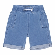 Deux Par Deux Boys Blue French Terry Bermuda Shorts