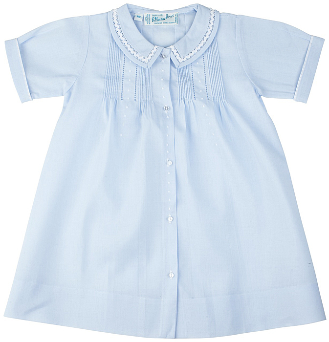 Feltman Bros 74174 Infant Boys Light Blue Traditional Day Gowns