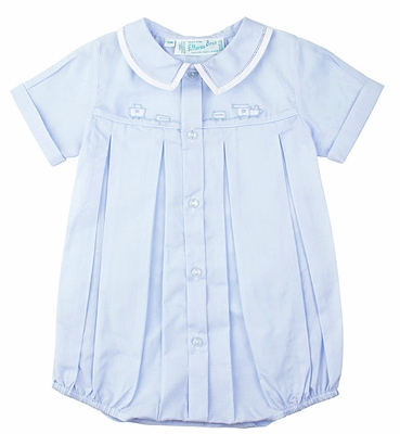 Feltman Brothers 23825 Baby Boys Light Blue Bubble with Train Embroidery