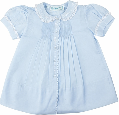 Feltman Brothers 6259 Infant Girls Dress with Slip - Light BLUE
