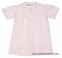 Feltman Brothers 74130 Infant Girls Pretty Pink Day Gowns - Delicate Lace Trim