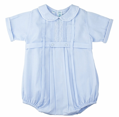 Feltman Brothers Baby Boys 23906 Light Blue Belted Bubble